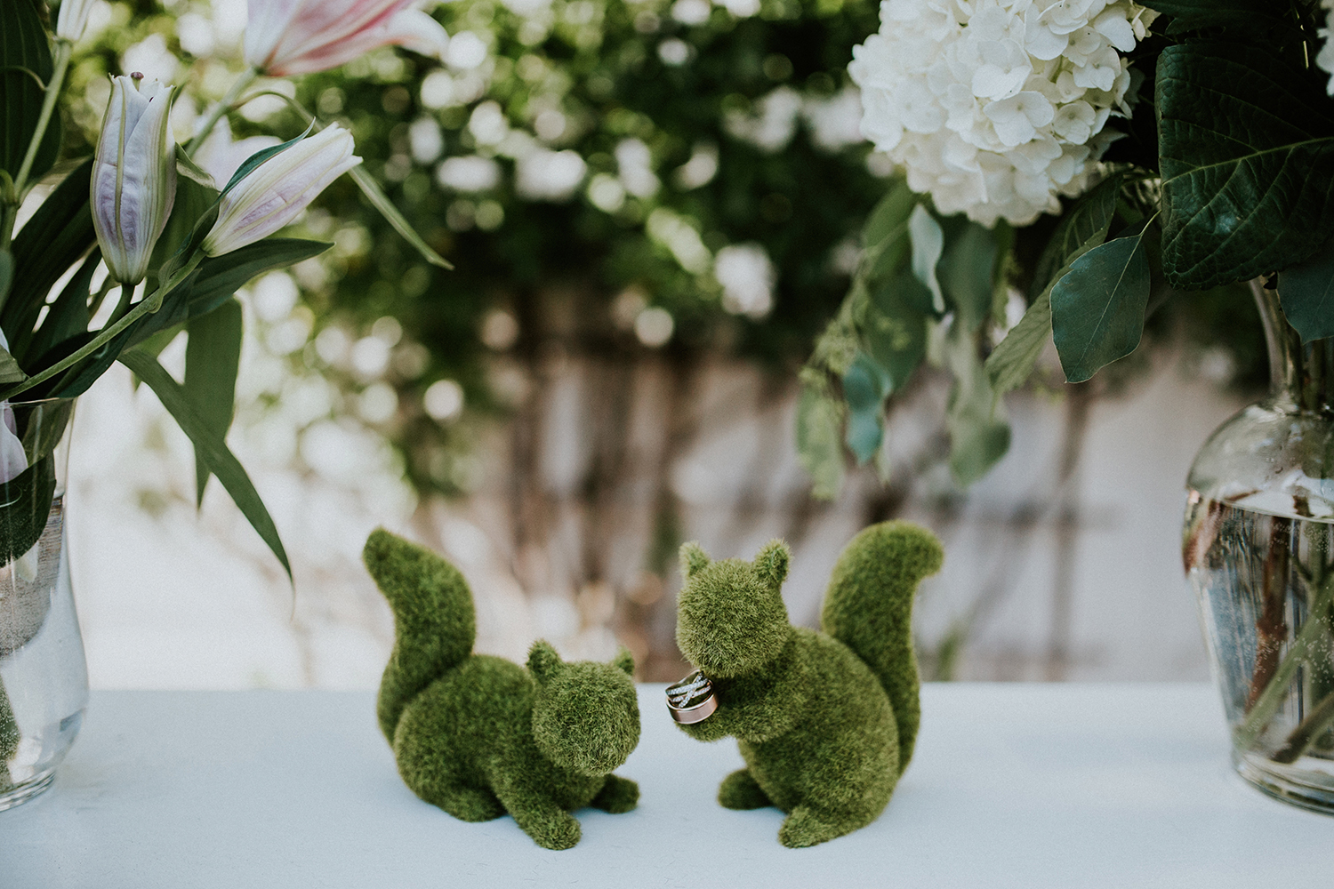 Perry House Monterey Wedding Venue Squirrel Ring Photo