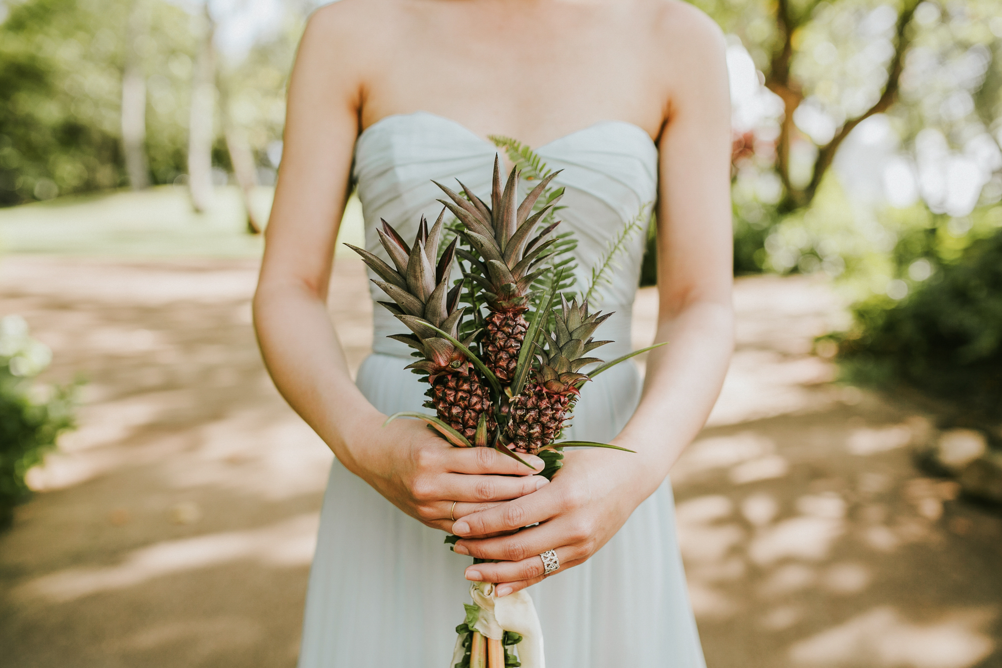 Lanikuhonua Phase 2 Wedding Hawaii Pineapple Bouquet