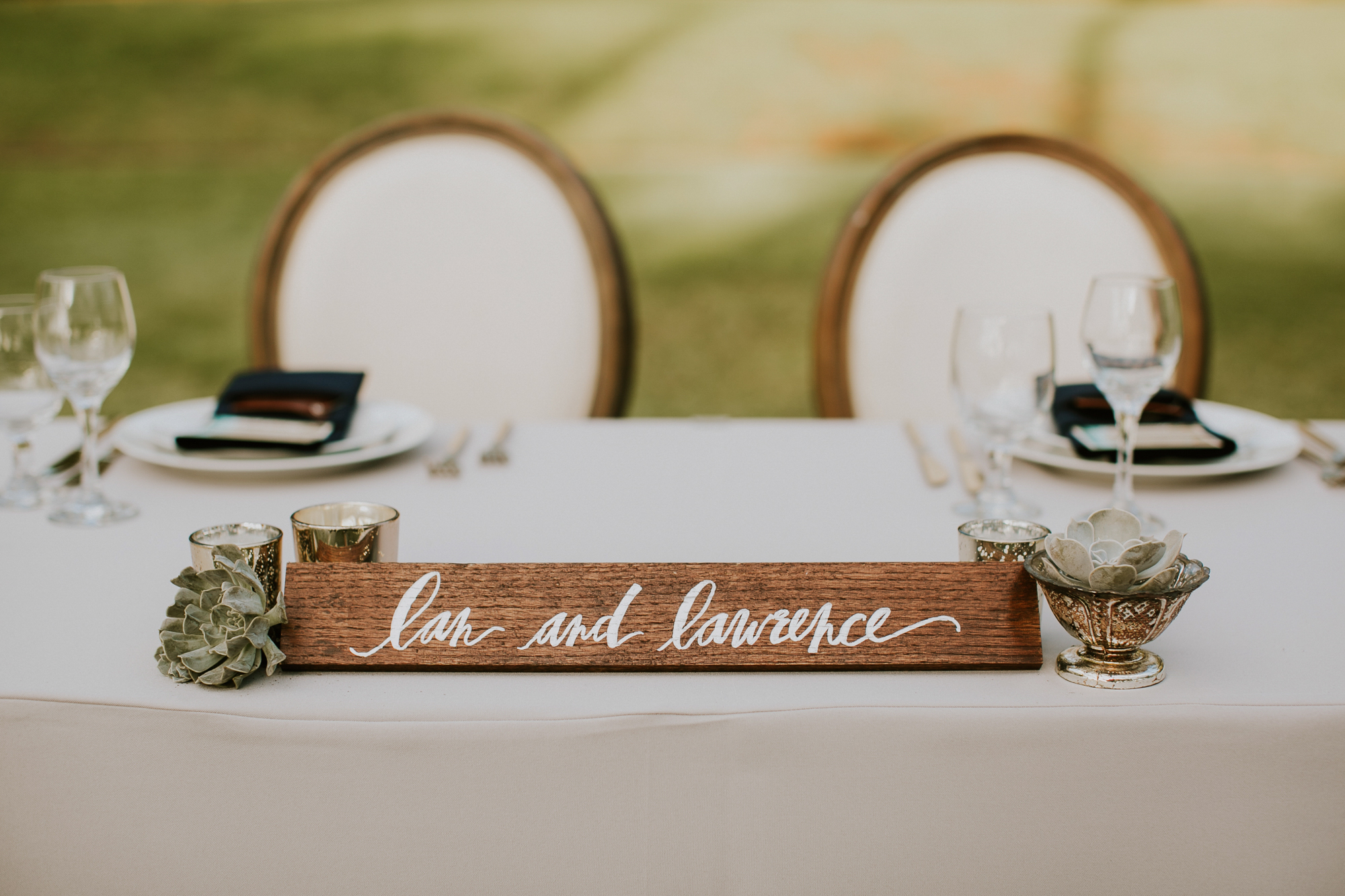 Lanikuhonua Phase 2 Wedding Hawaii Reception Sweetheart Table Decor