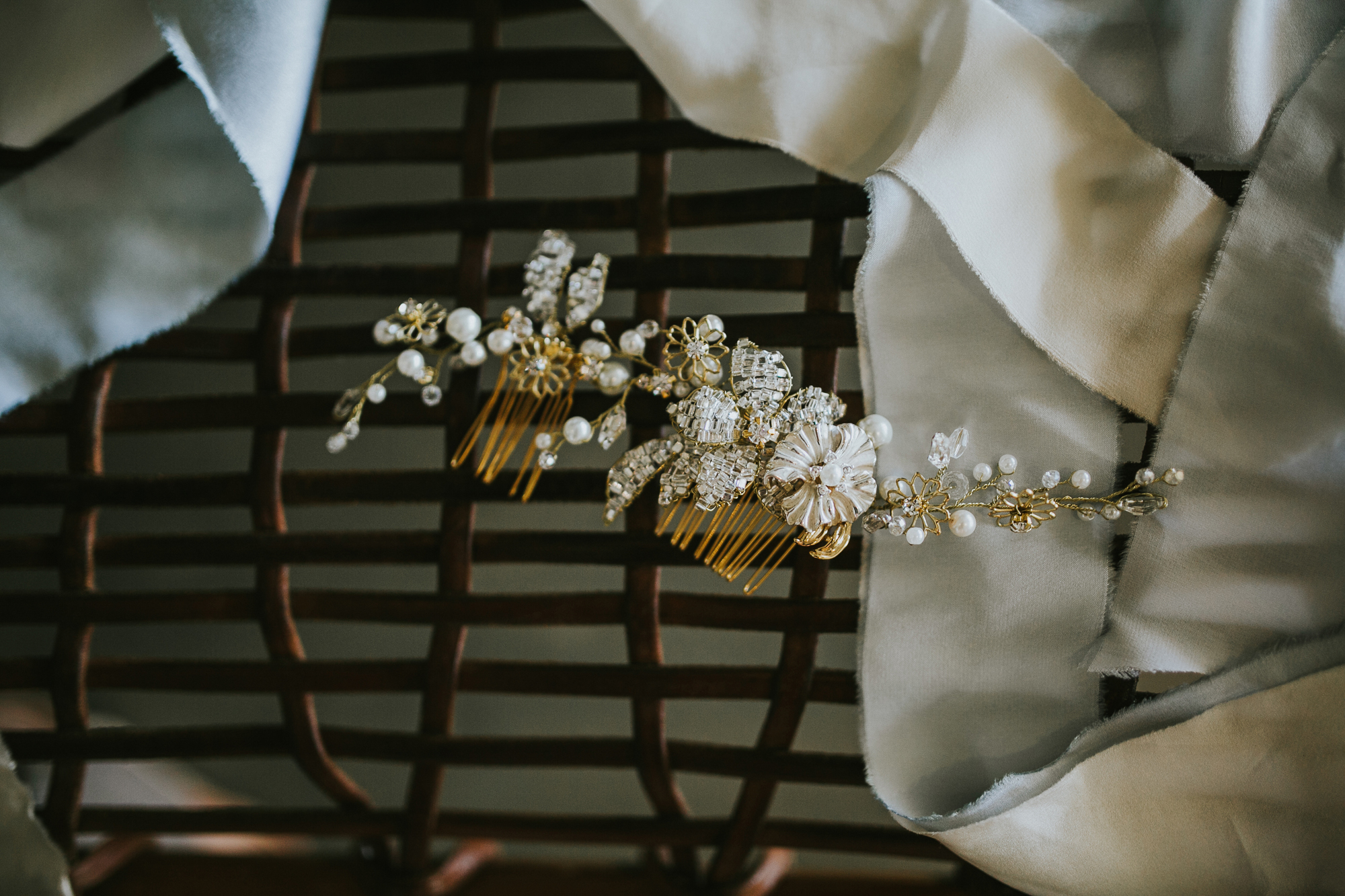 Modern Honolulu Hotel Wedding Bridal Accessories