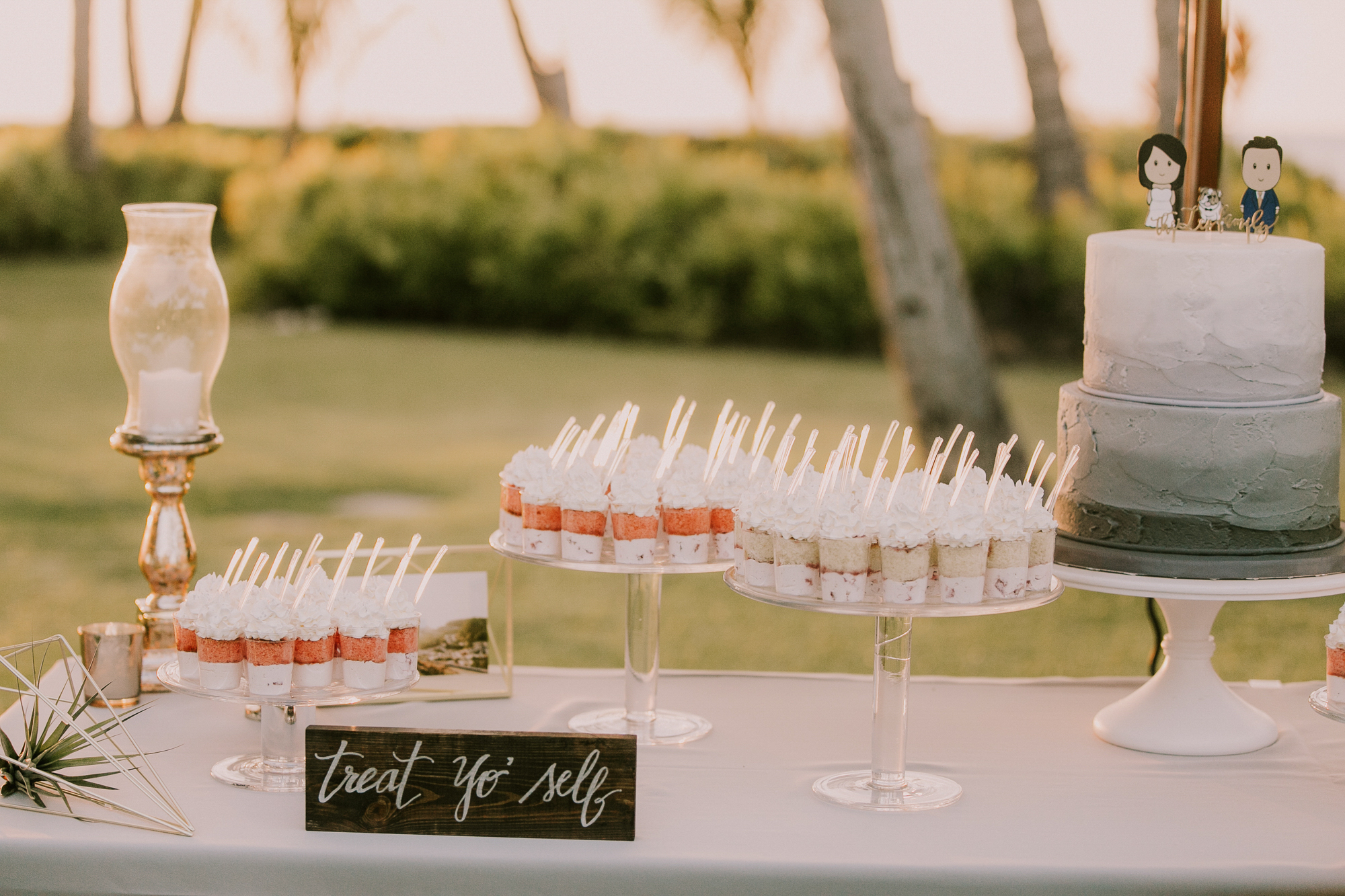 Lanikuhonua Phase 2 Wedding Hawaii Reception Dessert Table