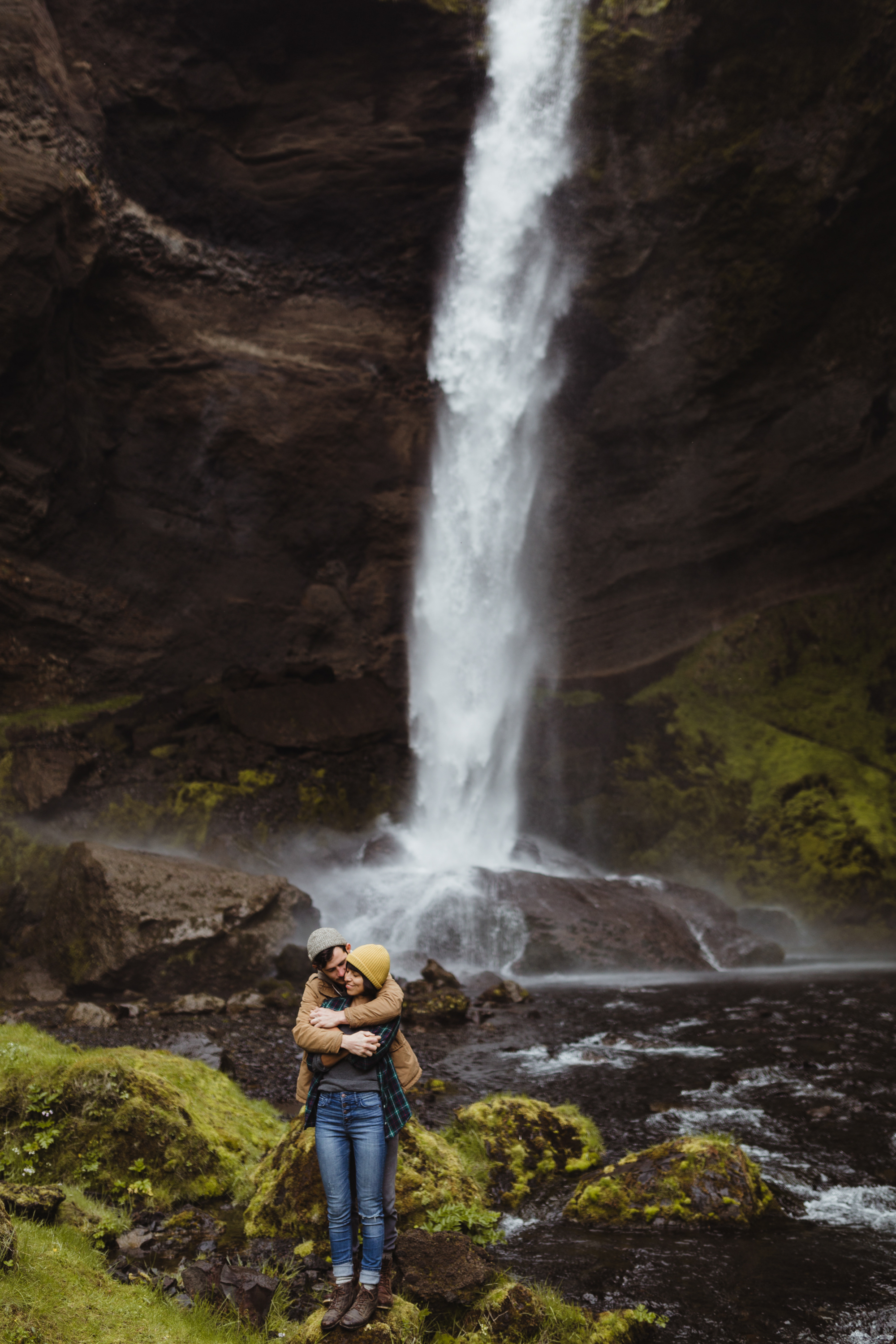 Iceland Couples Waterfall Love Session